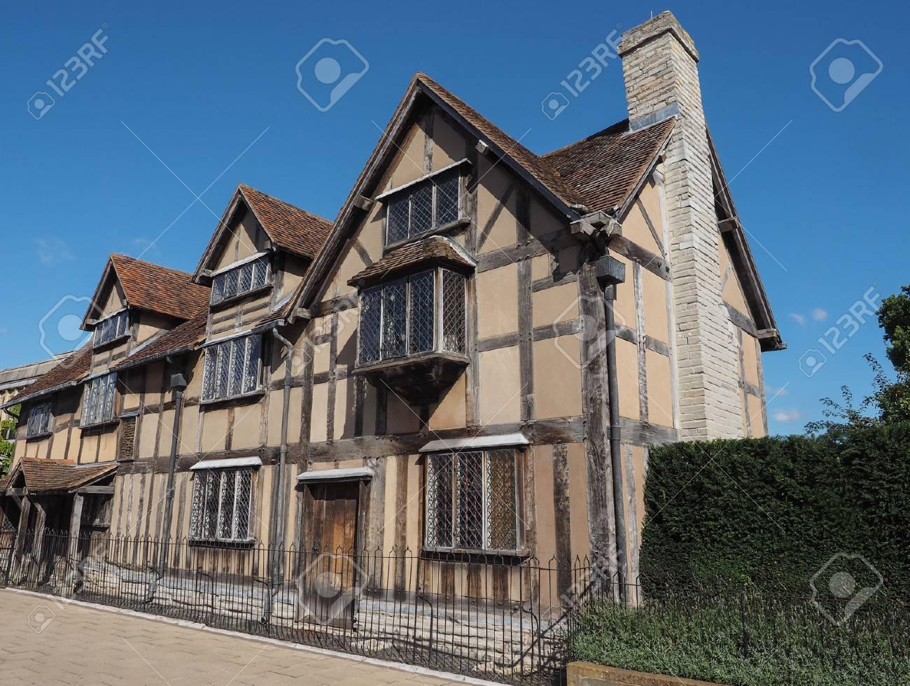 William Shakespeare Birthplace In Stratford Upon Avon UK Stock