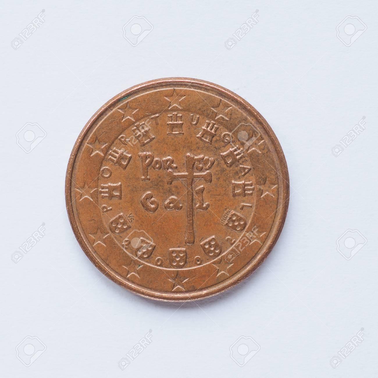 Währung Europa 5 Cent Münze Aus Portugal Lizenzfreie Fotos Bilder