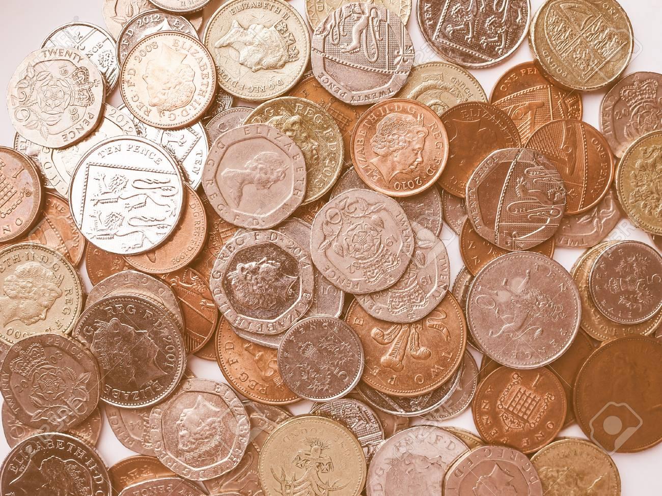London Uk 1 August 2015 Britische Pfund Münzen Währung Des