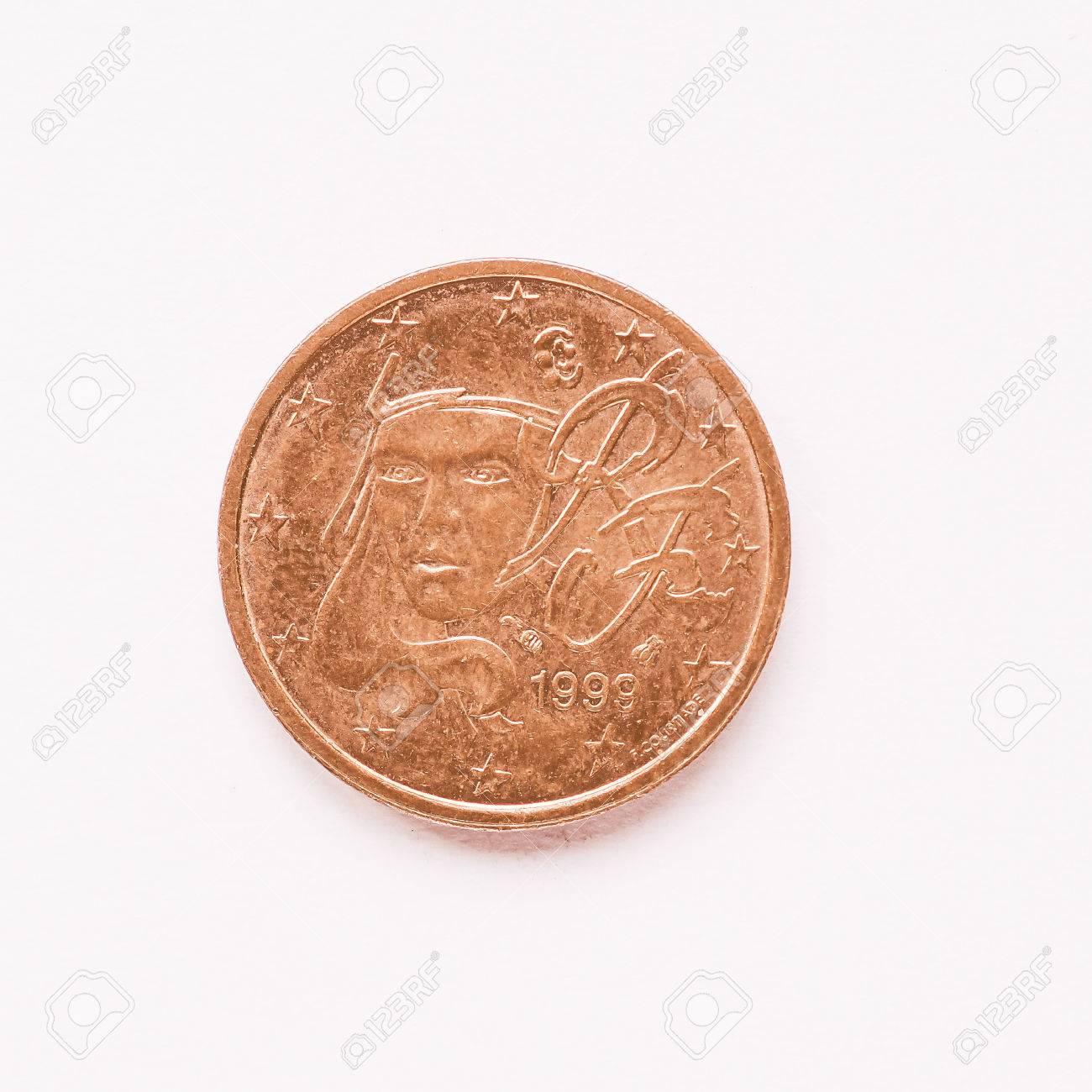 Währung Europa 2 Cent Münze Aus Frankreich Jahrgang Lizenzfreie