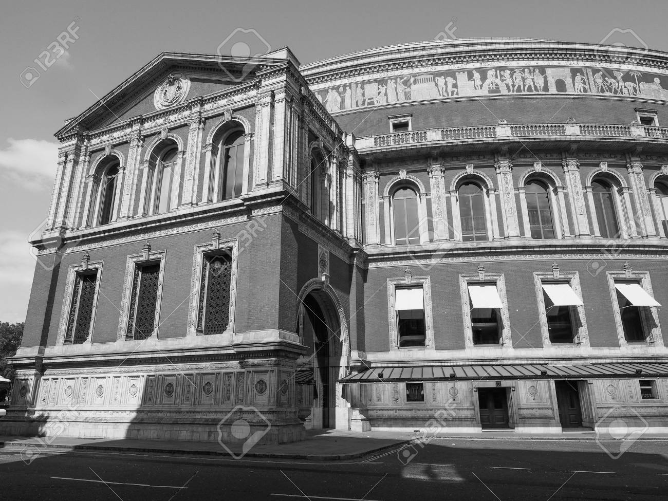 Royal Albert Hall Concert Room In London Uk In Black And White Stock P O