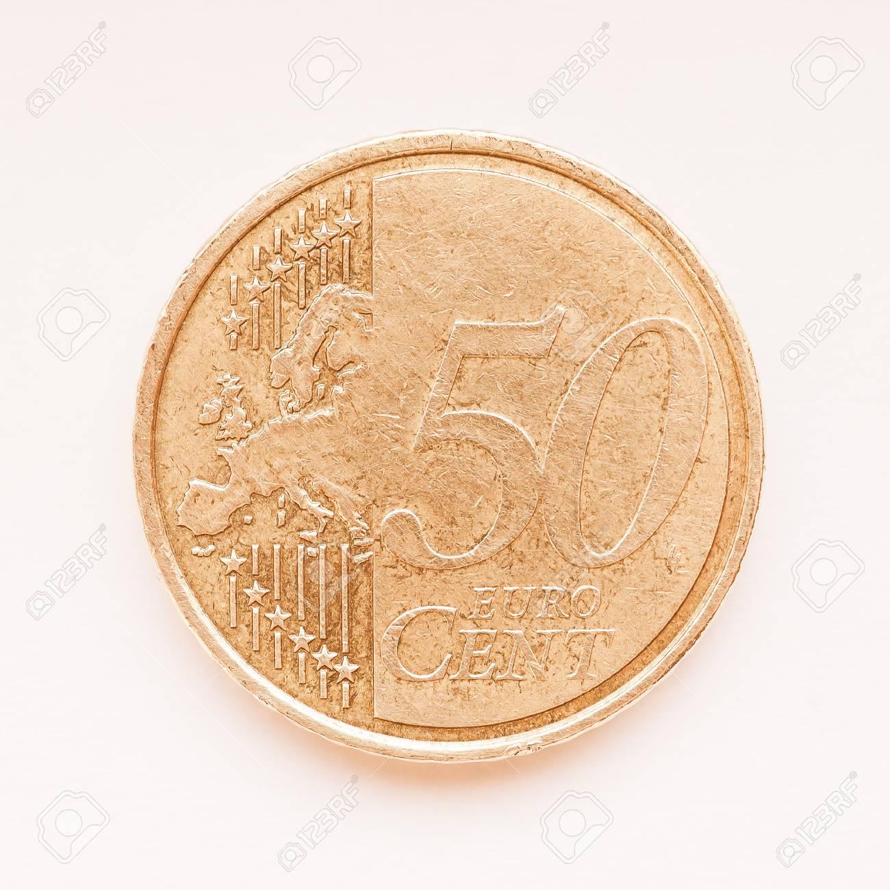 50 Euro Cent Münze Währung Der Europäischen Union Jahrgang