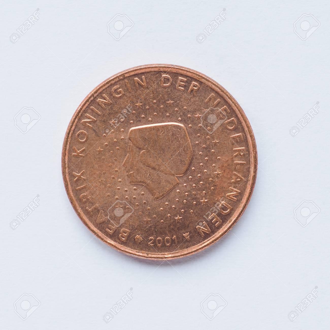 Währung Europa 5 Cent Münze Aus Niederlande Lizenzfreie Fotos