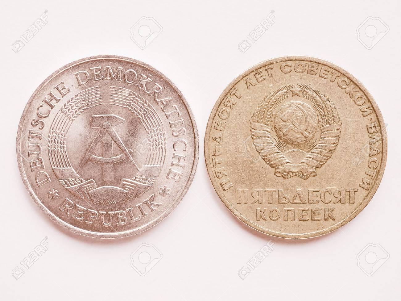 Weinlese Russische Rubel Münze Aus Cccp Bedeutung Sssr Und