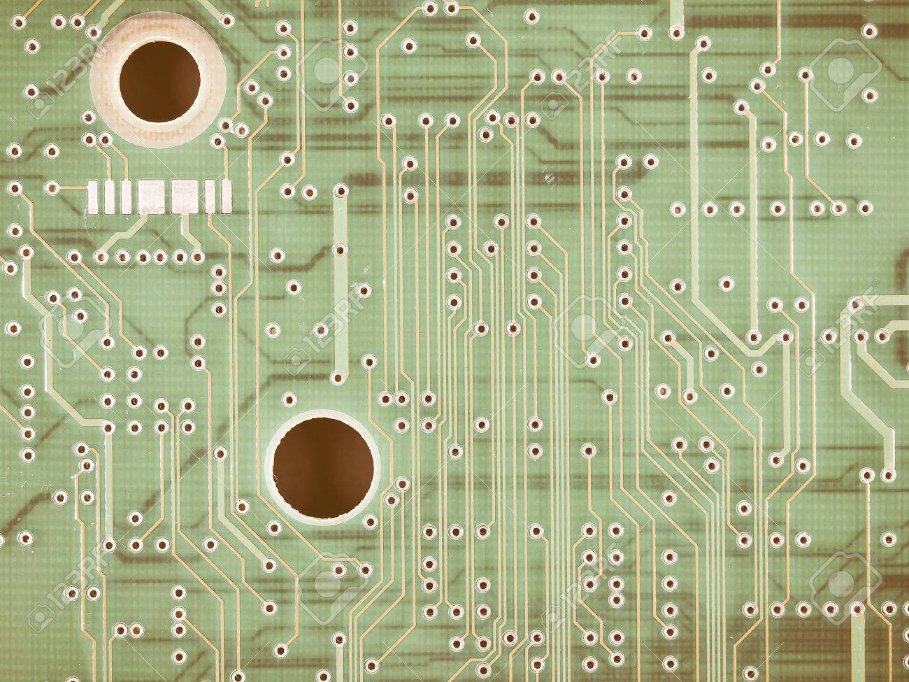 Detail Of An Electronic Printed Circuit Board Vintage Stock Photo A Royalty Free Image 51430697
