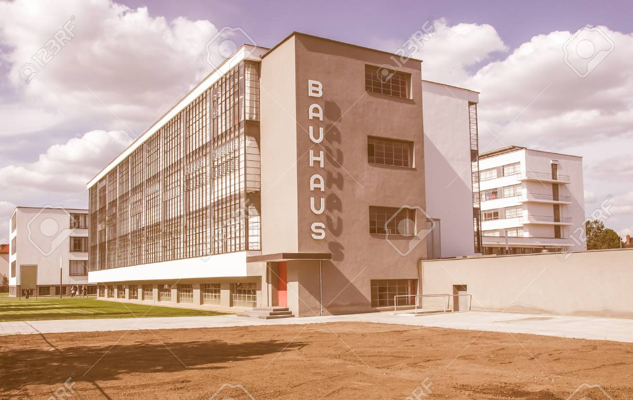 DESSAU, GERMANY - AUGUST 6: The Bauhaus building masterpiece of modern  architecture in the