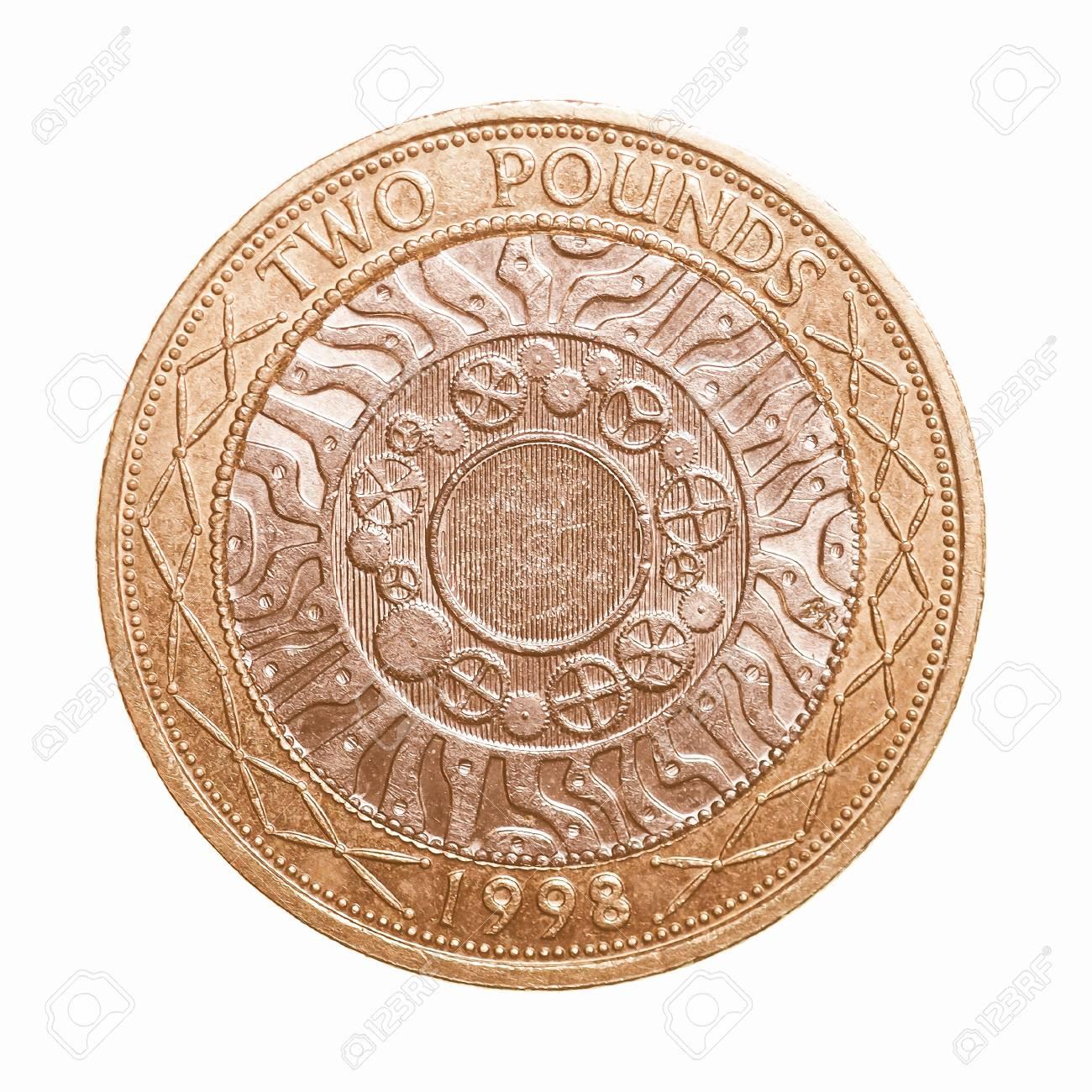 Pfund Münze 2 Pfund Währung Des Vereinigten Königreichs über