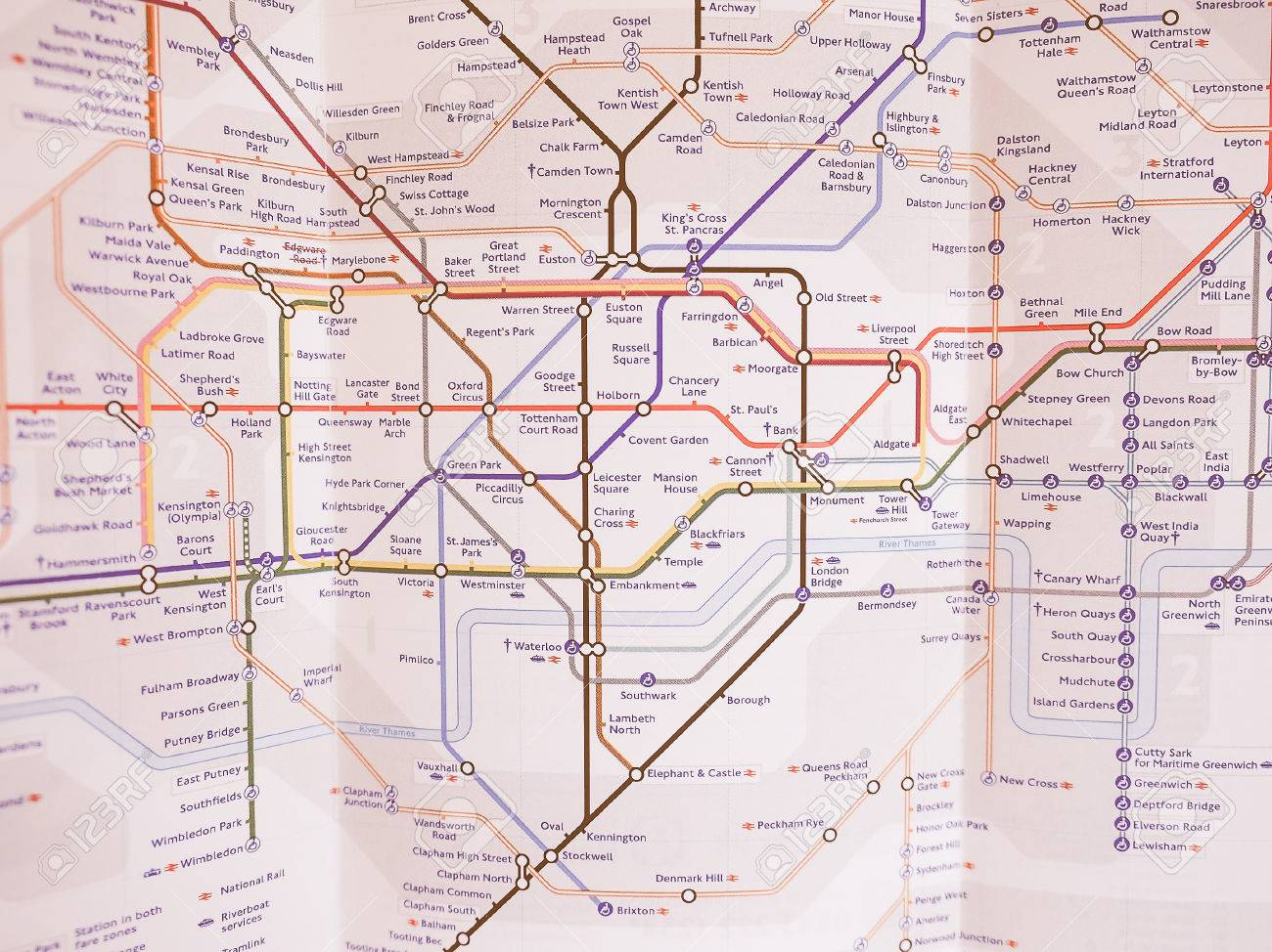 london uk january 10 2015 tube map of the london underground subway