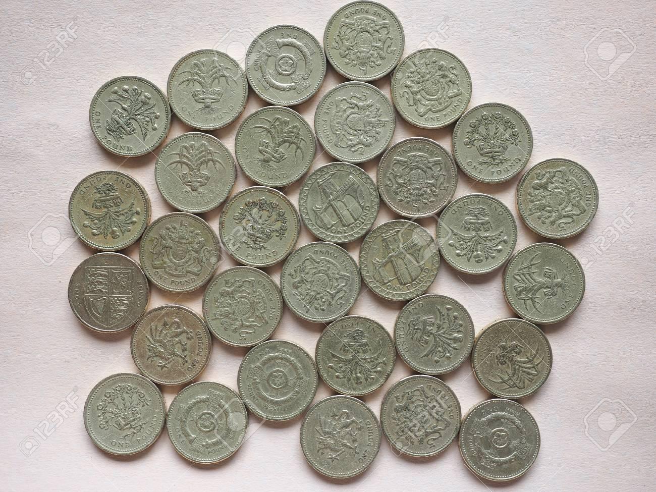 Britischen Pfund Münzen Währung Des Vereinigten Königreichs