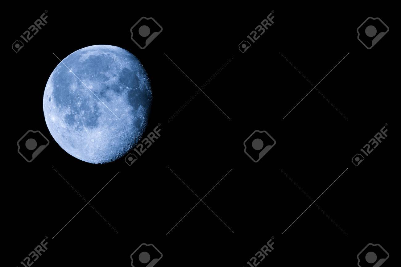 Waning Gibbous Moon Almost Full Moon Stock Photo Picture And