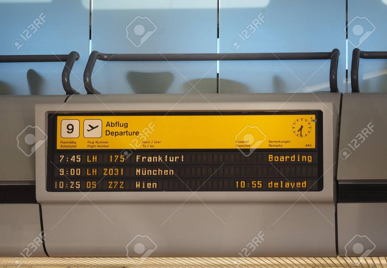 Berlin Germany Circa June 2016 Abflug Meaning Departure