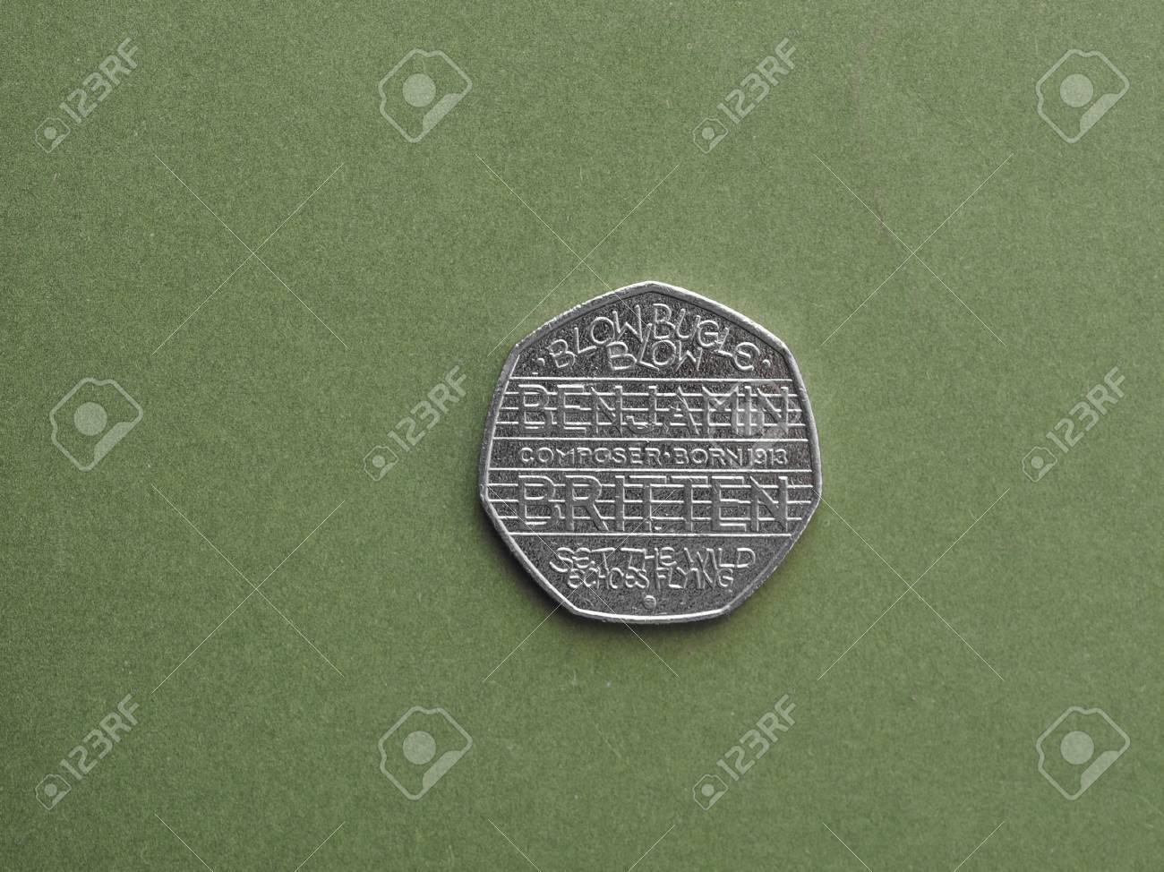 London Großbritannien Circa August 2016 Feierliche 50 Pence