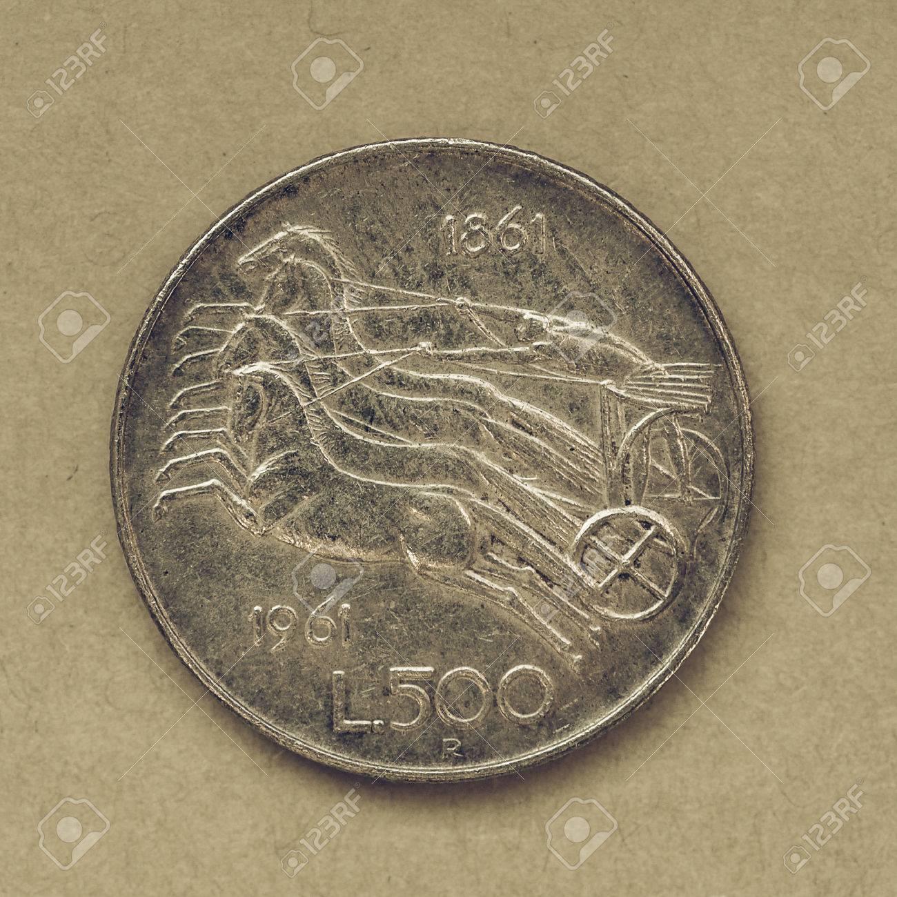 Jahrgang Suchen Vintage Italienische 500 Lire Münzen Seit Der
