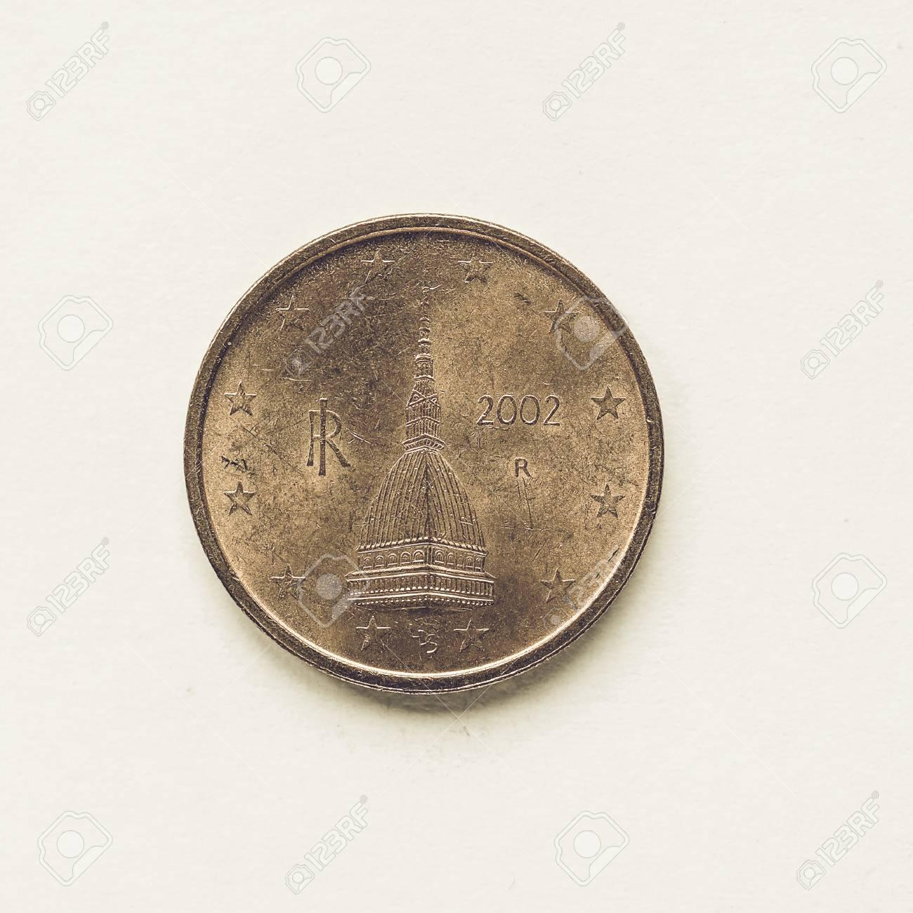 Jahrgang Suchen Währung Europa 2 Cent Münze Aus Italien Lizenzfreie