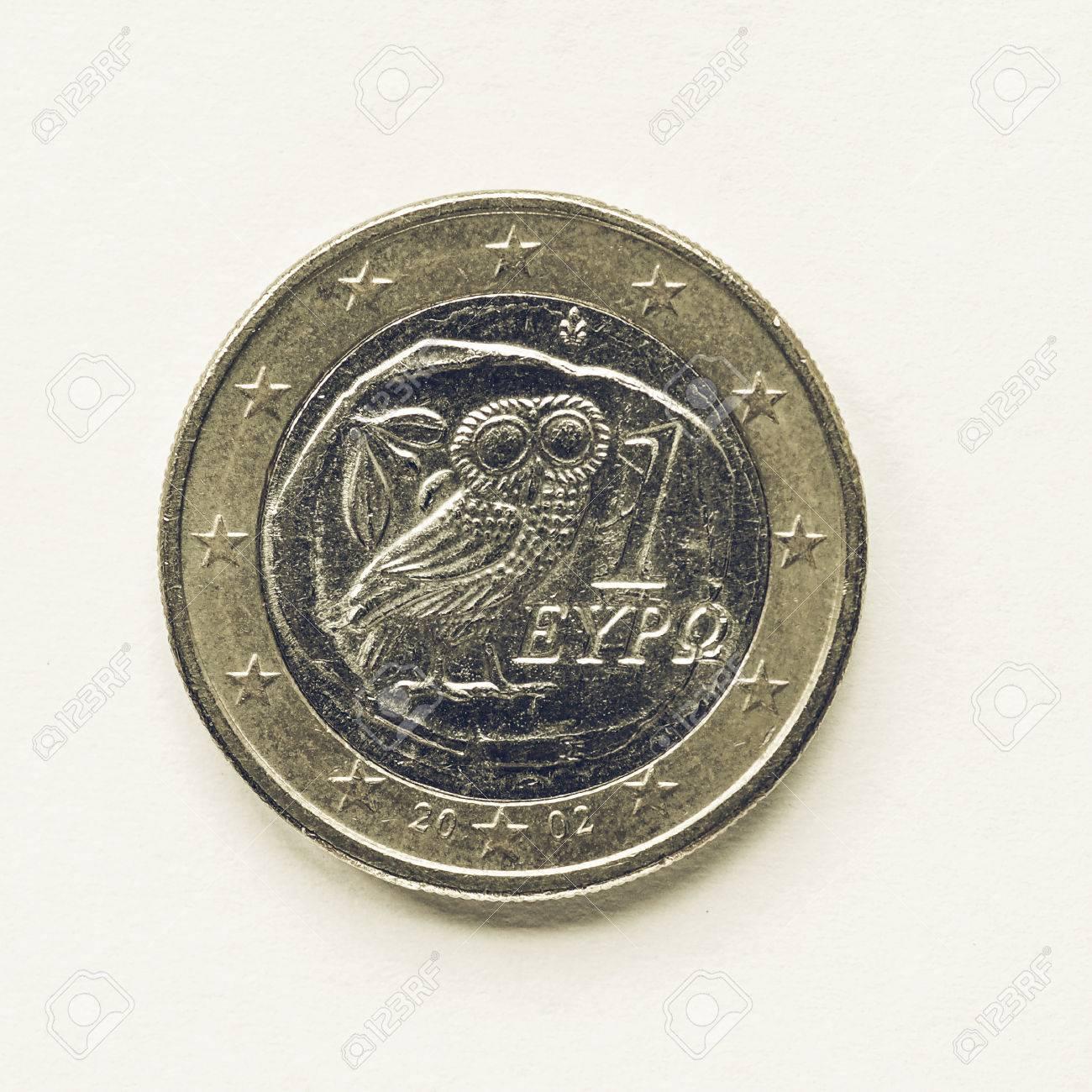 Jahrgang Suchen Währung Europa 1 Euro Münze Aus Griechenland