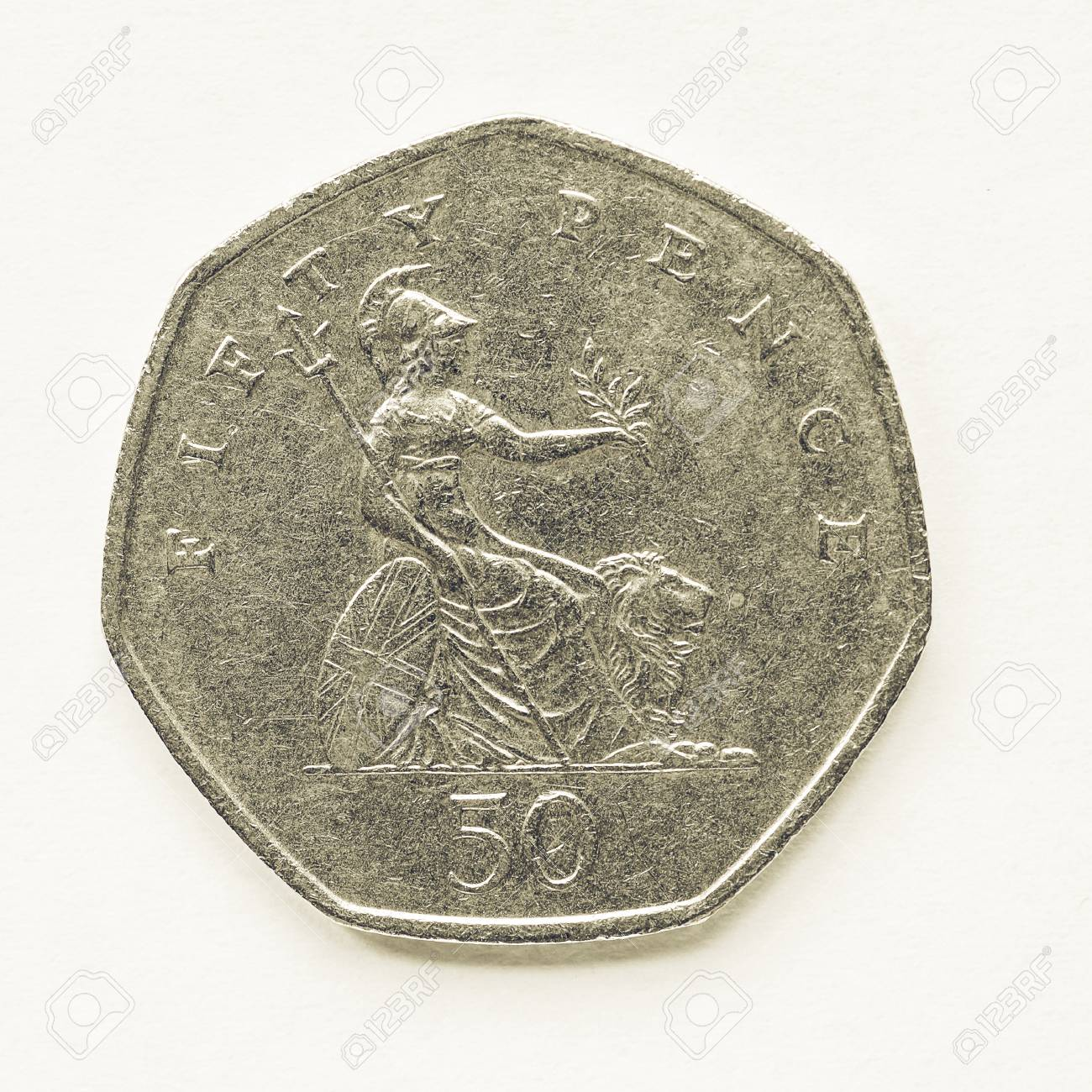 Jahrgang Suchen Währung Des Vereinigten Königreichs 50 Pence Münze