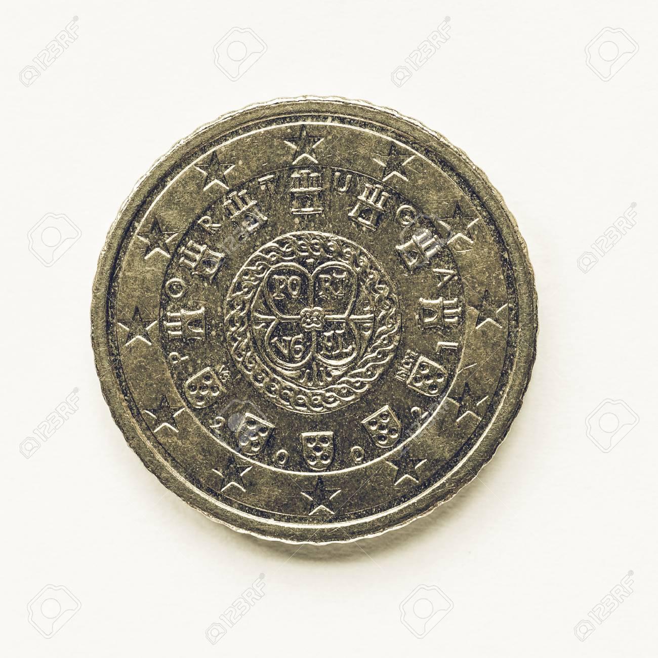 Jahrgang Suchen Währung Europas 50 Cent Münze Aus Portugal