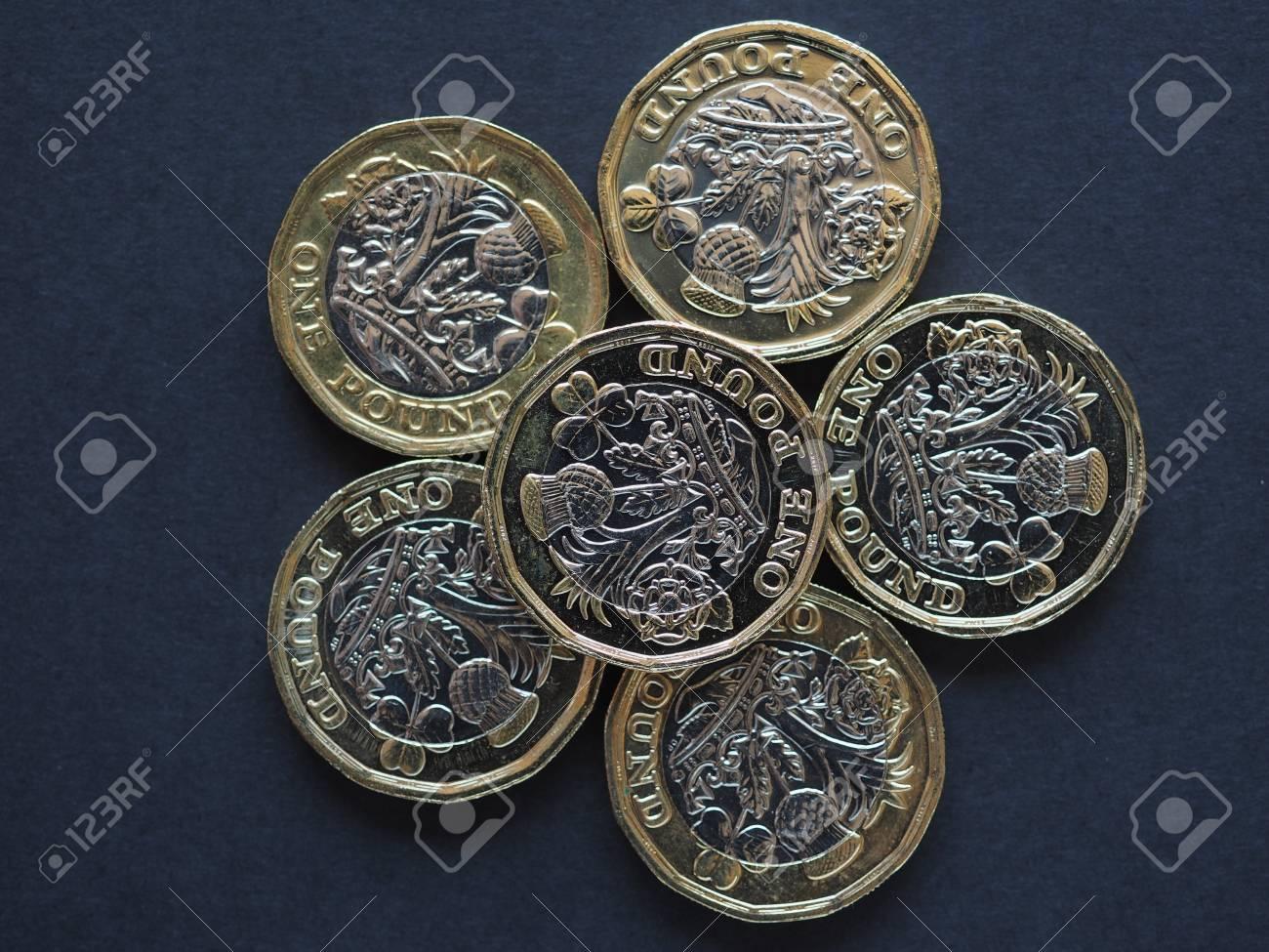 Neue 1 Pfund Münze Geld Währung Währung Des Vereinigten Königreichs
