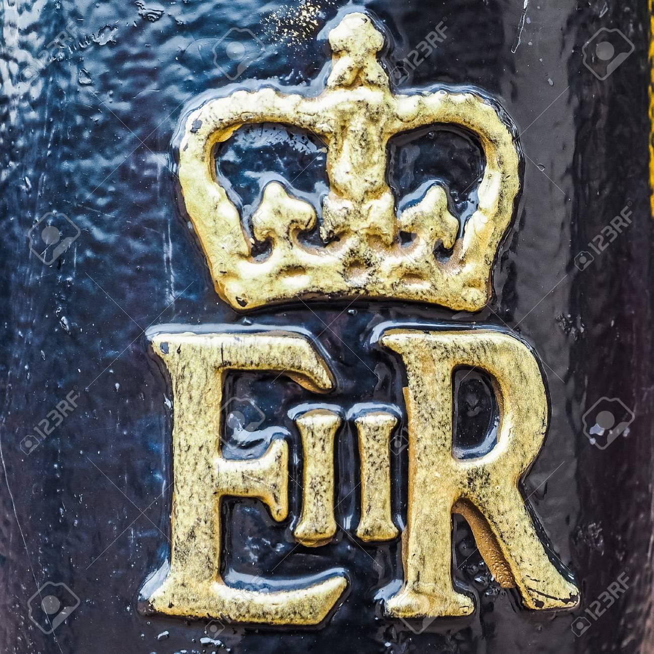 London Uk Circa June 2017 Royal Cypher Of Hm The Queen Elizabeth