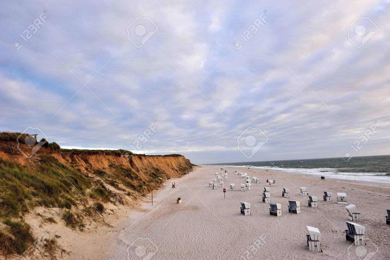The Red Cliff Of Island Sylt Germany Stock Photo Picture And