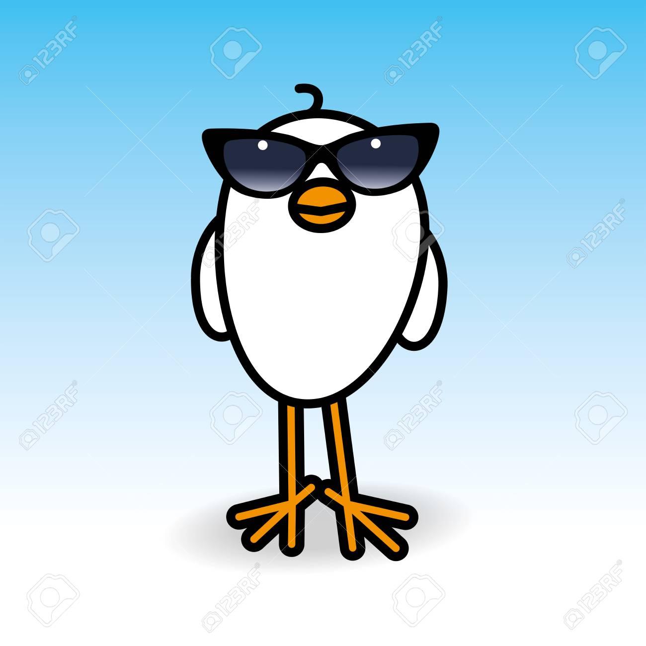 Sonreír Polluelo Blanco Wearing Señoras Montura Negra Gafas De Sol ...