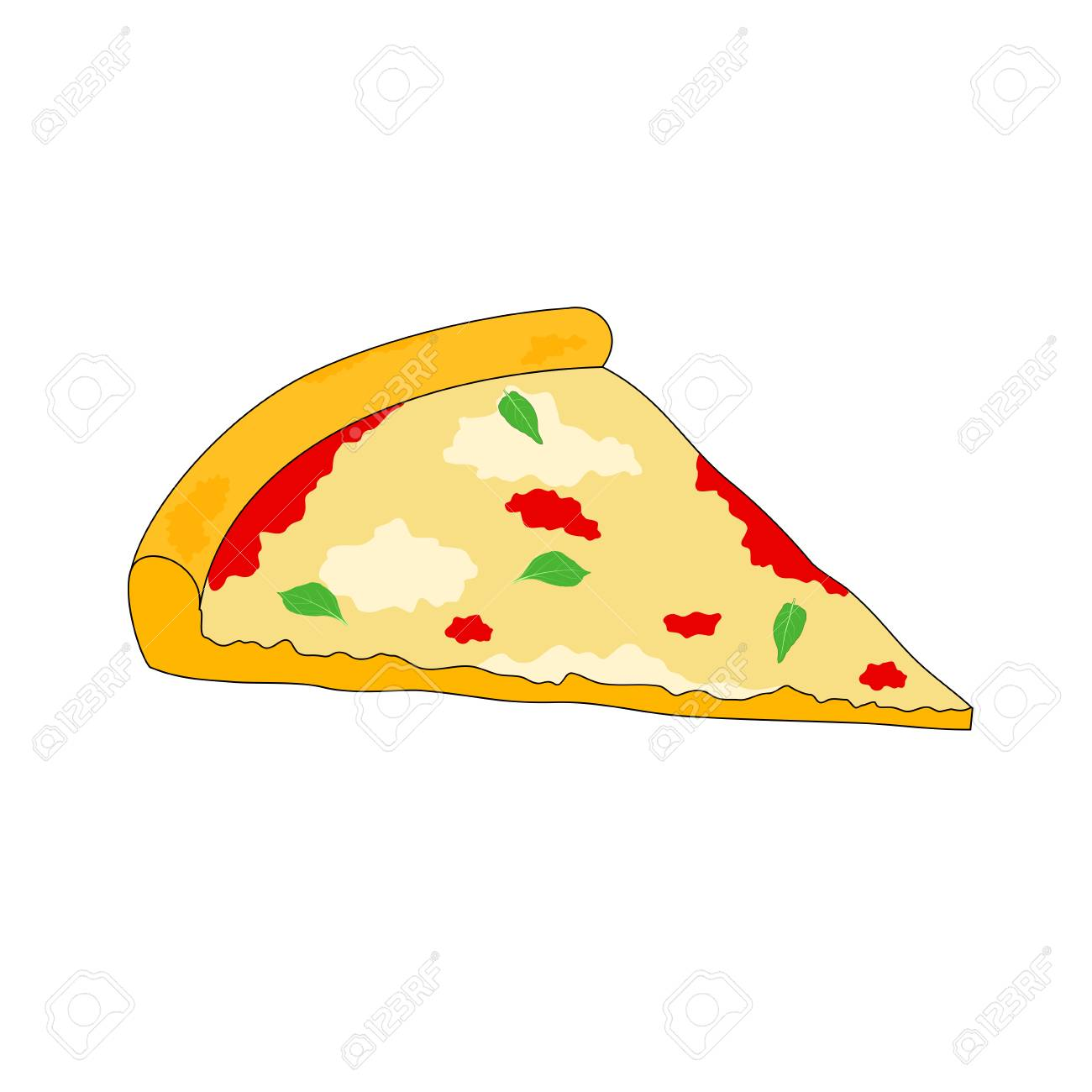 Pixel - Black And White Pizza Slice - Free Transparent PNG Clipart Images  Download