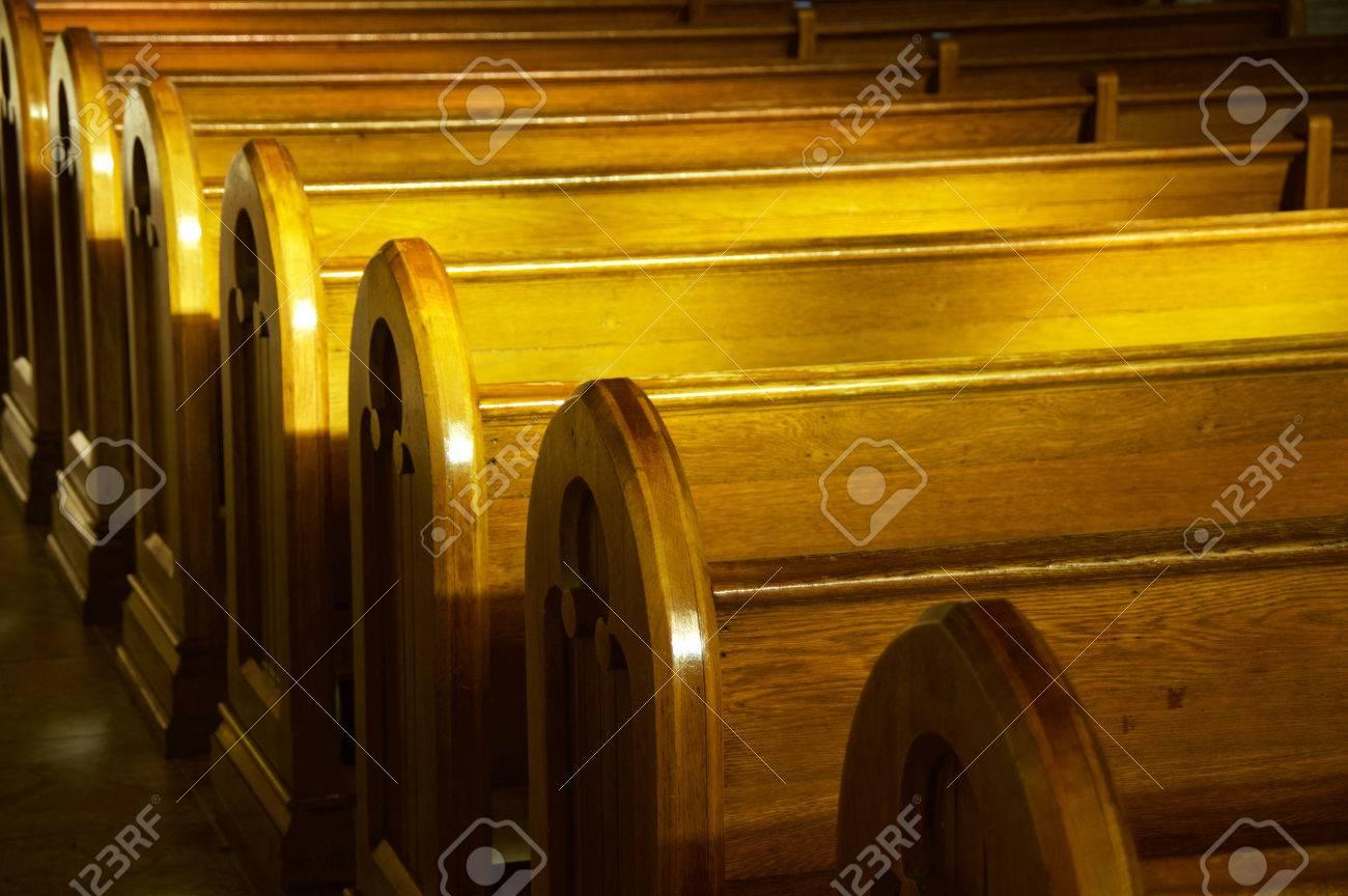 A row of church benches. - 35102827