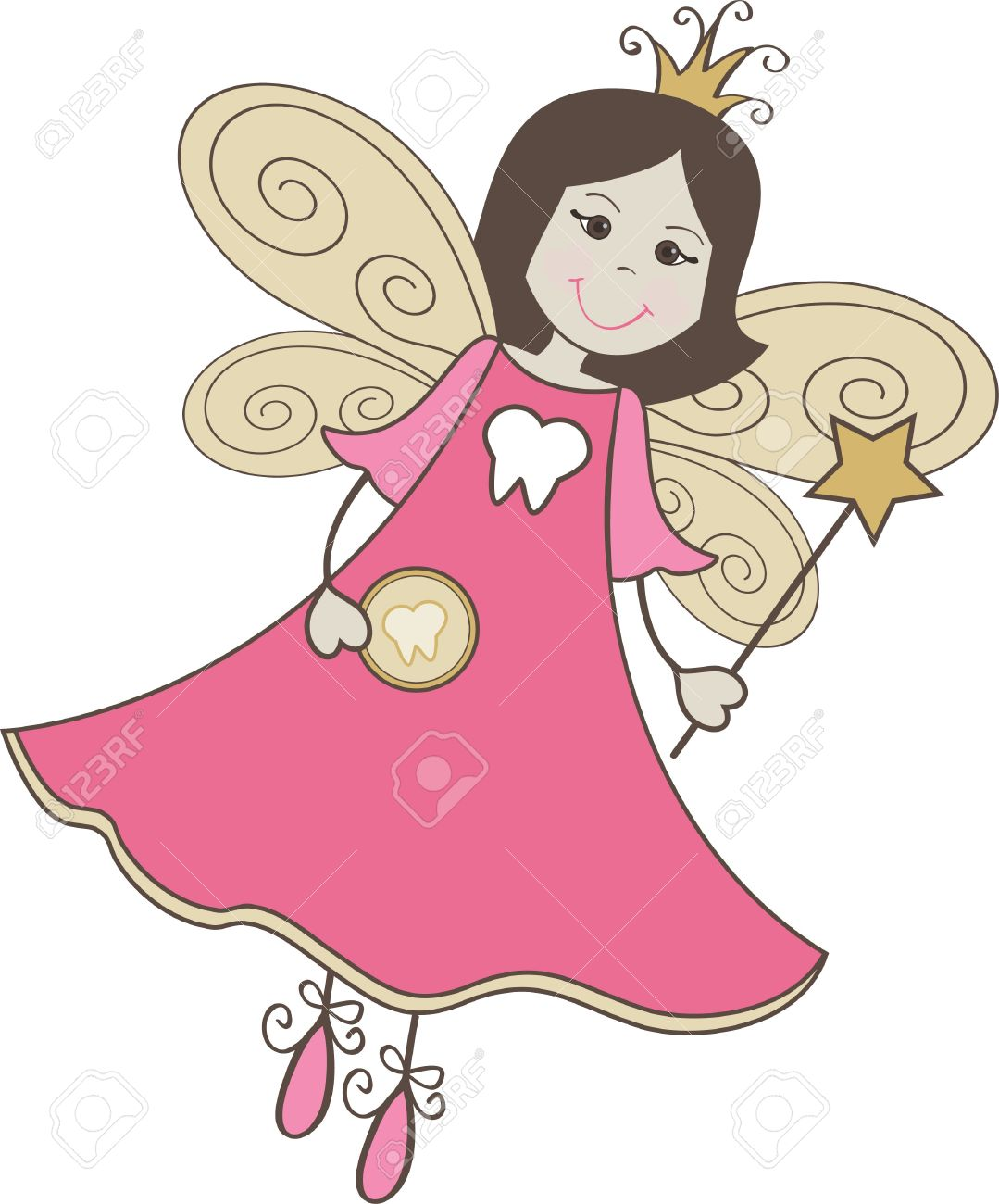 tooth fairy stick figure royalty free cliparts vectors and stock