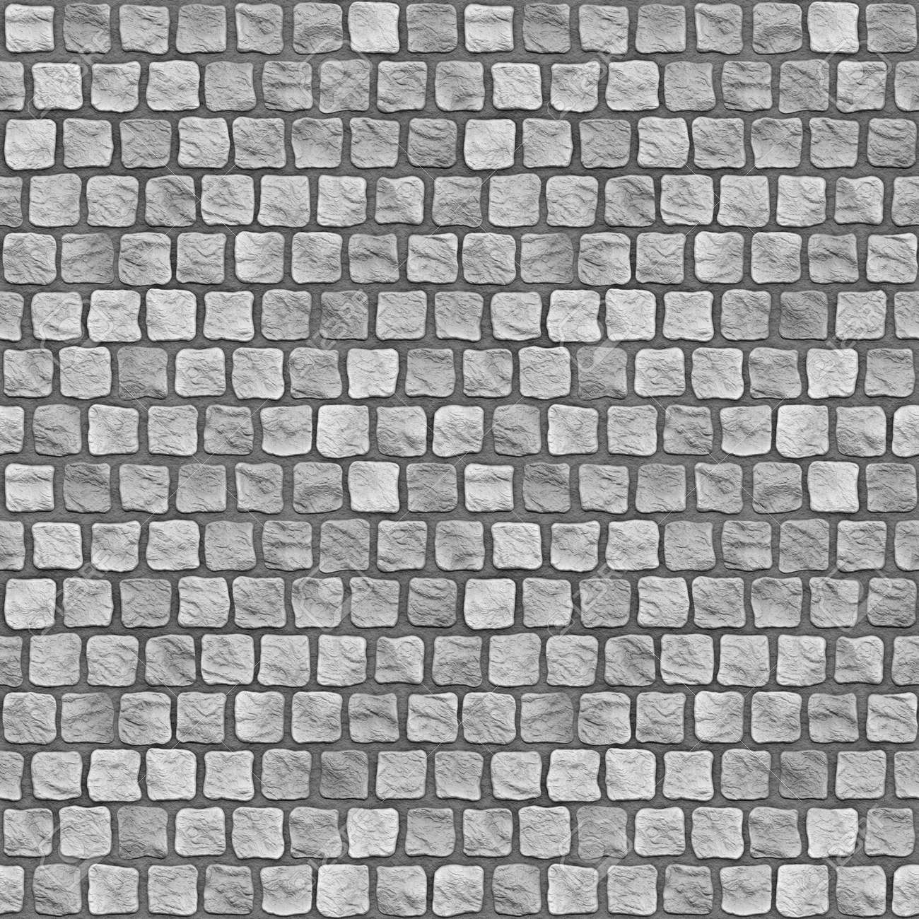 A Seamless Tiling Texture Illustration Of Cobblestones Stock. Cobblestone Texture Seamless