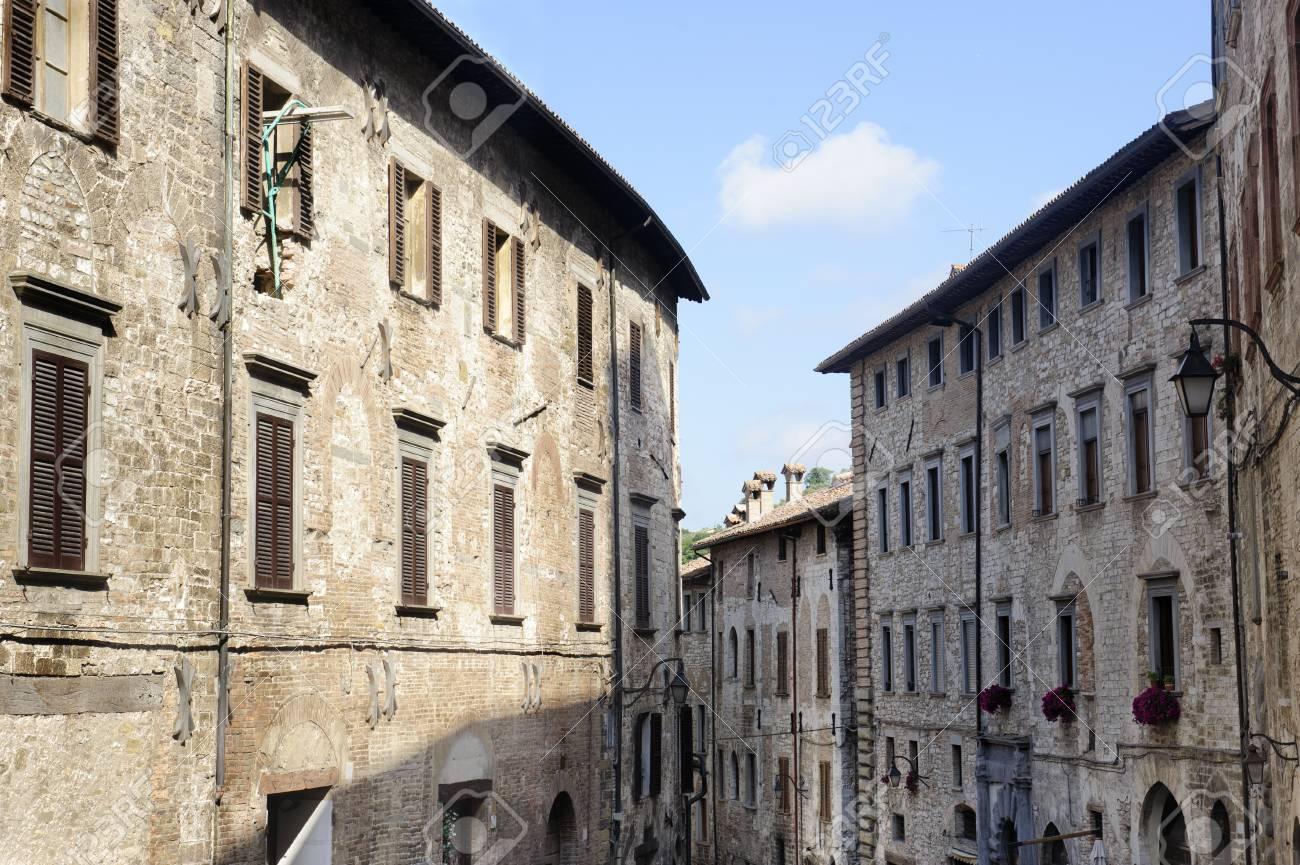 Gubbio (Perugia, Umbria, Italy), typical old street Stock Photo - 12680744