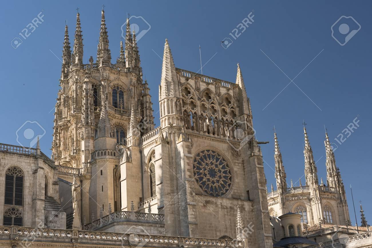 Burgos Castilla Y Leon Spain Exterior Of The Medieval Cathedral In