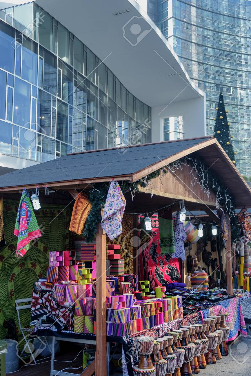 Little Christmas Italy.Milan Lombardy Italy Modern Buildings In Gae Aulenti Square