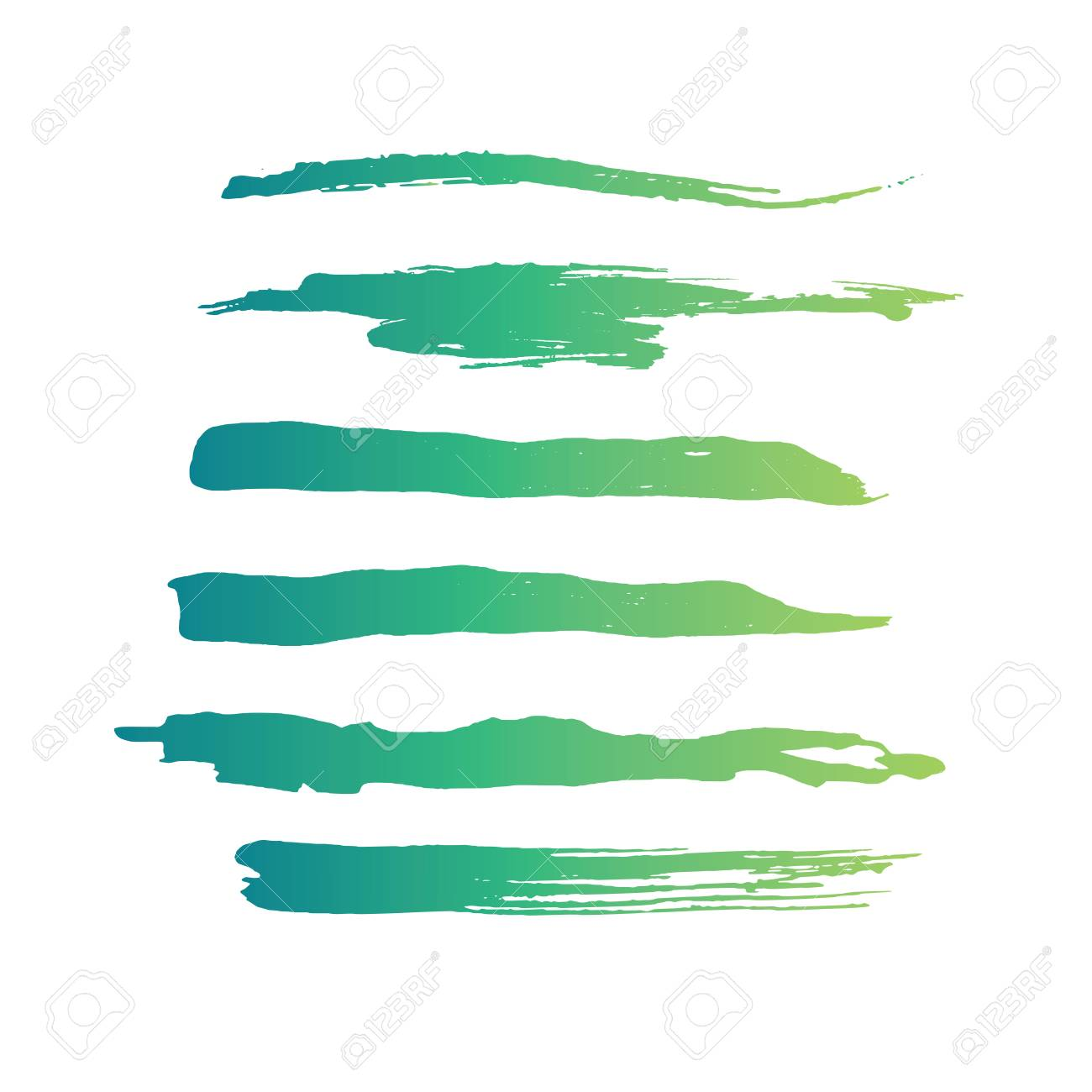 Green abstract grunge curly brushes  Spring digital collection