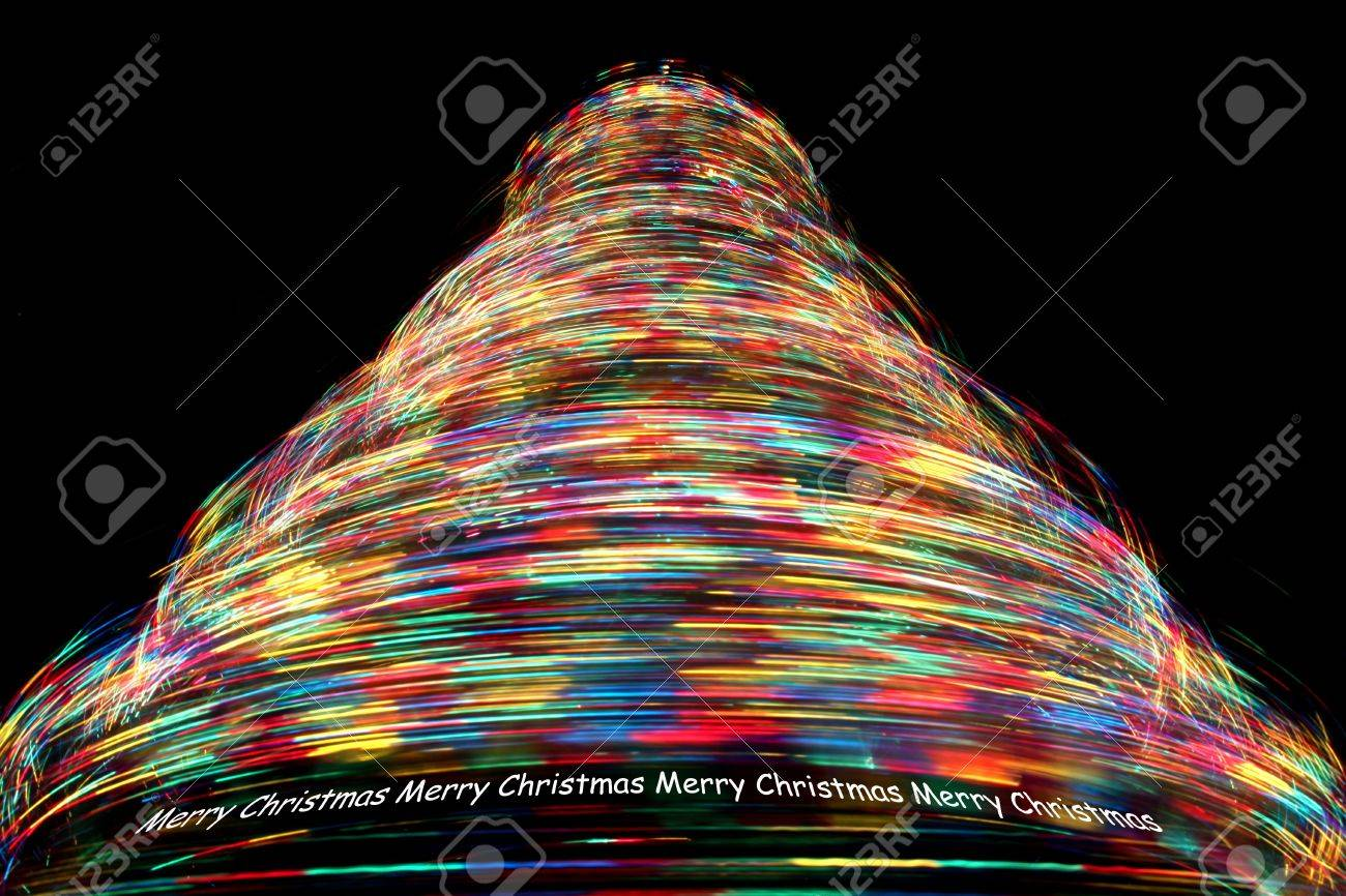 Merry Christmas - Long Exposure Of Rotating Christmas Tree With ...