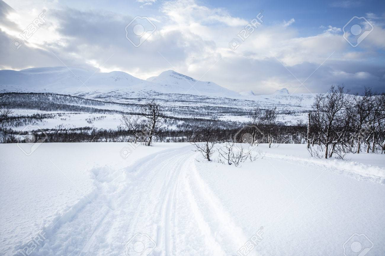 Snowy Norwegian Mountain Landscape Nordland Norway Stock Photo Picture And Royalty Free Image Image 38171645