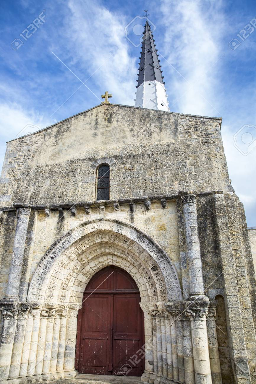 village of ars en re with saint etienne church ile de re france