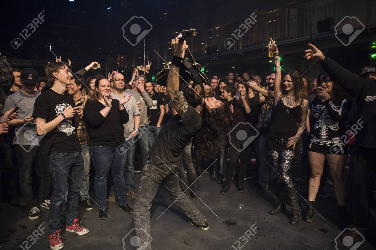 Amsterdam, The Netherlands - March 19, 2017: audience cheering