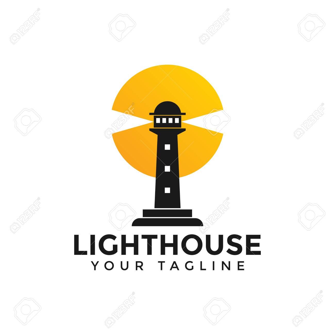 Lighthouse, Beacon Logo Design Template - 132148684