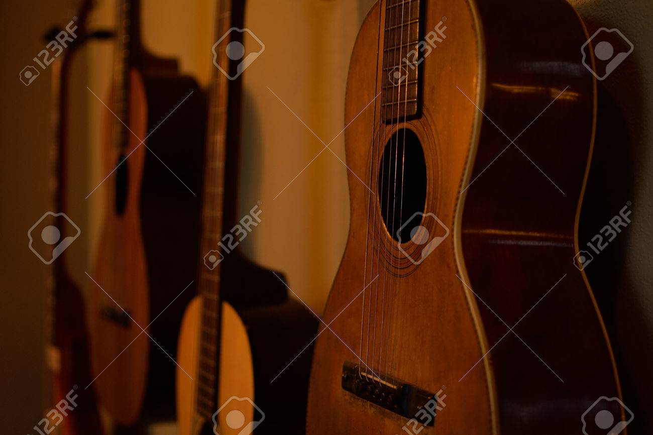 Old Guitars in Morning Sun