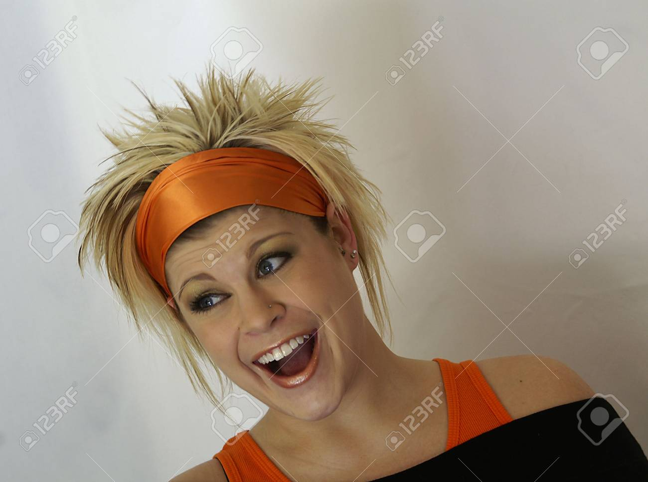Funky girl with bright smile Stock Photo - 364209