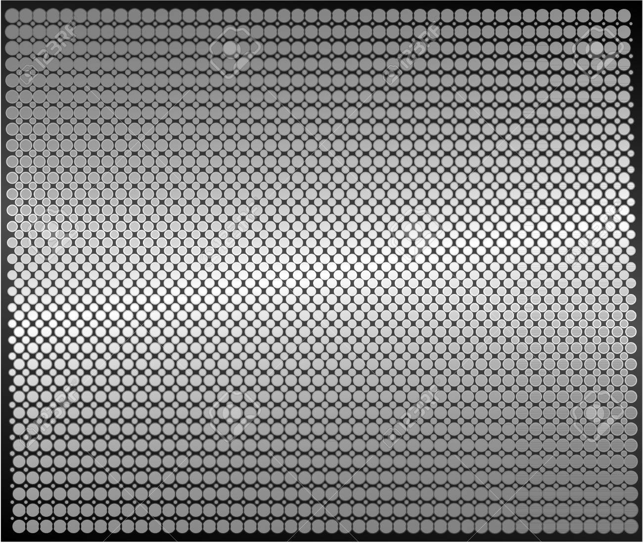 Metal sheet dotted texture Stock Vector - 9439394