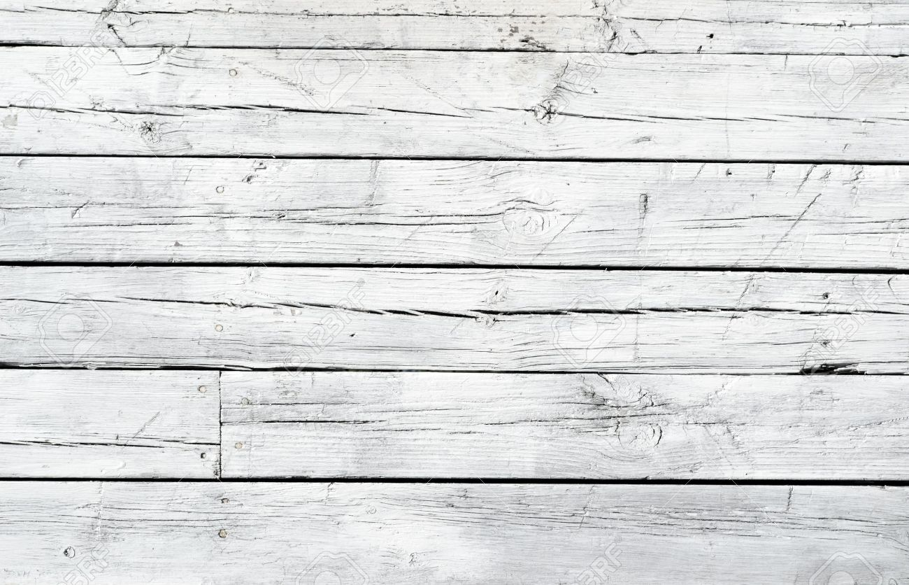 A Background Of Weathered White Painted Wood Stock Photo   9641658