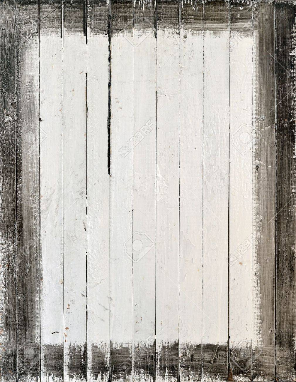 Weathered White Wood With Paint Frame Stock Photo, Picture And ...