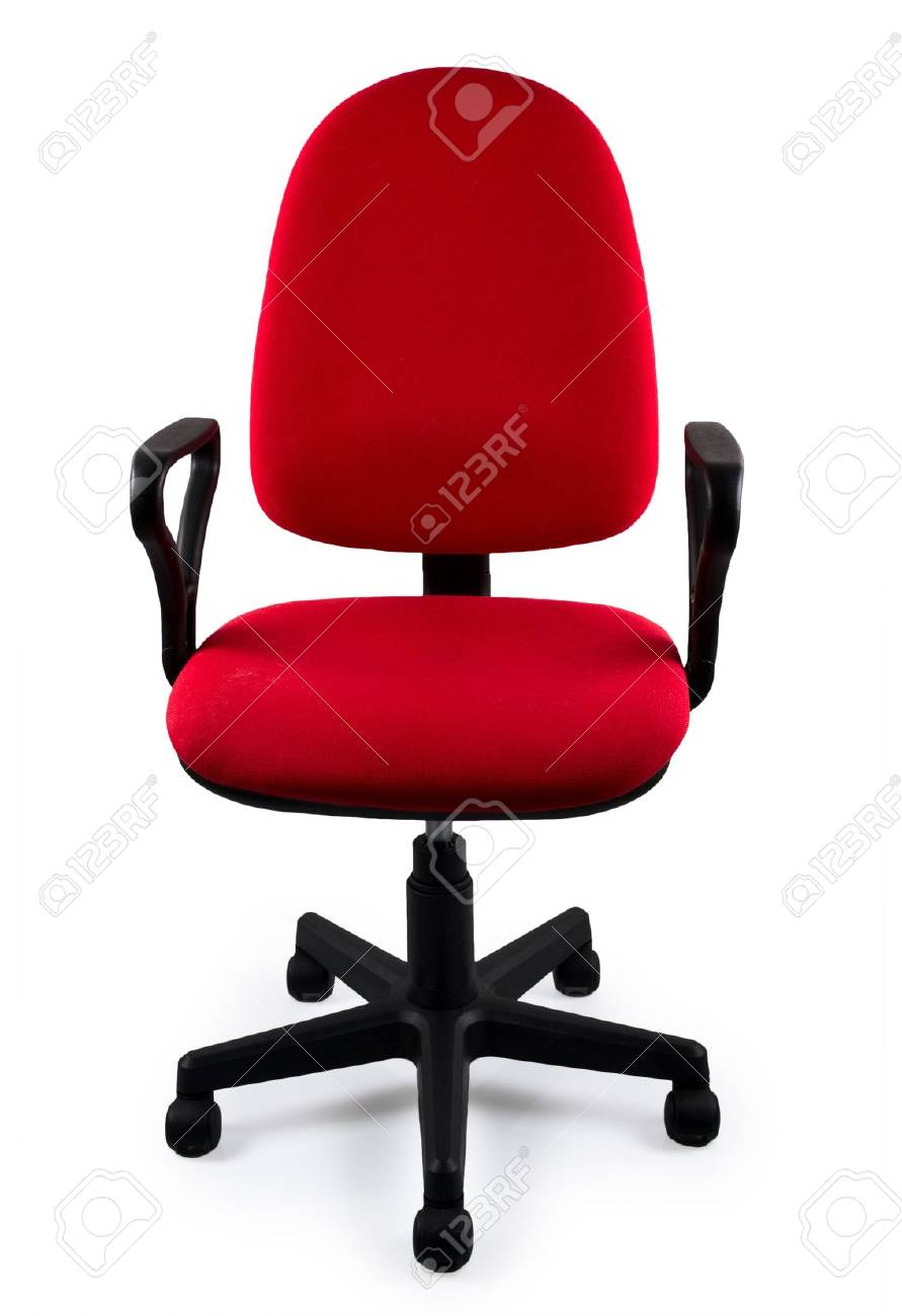 Red office chair stock photo 12082166
