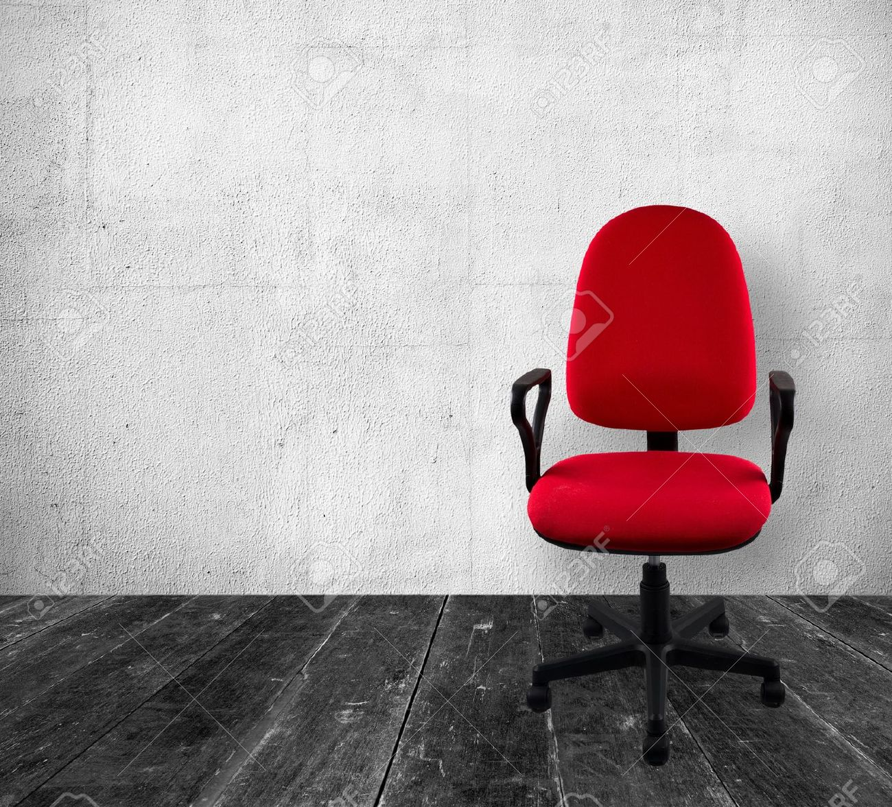 Red chair photography - Office Chair In Vintage Interior Stock Photo 12082171