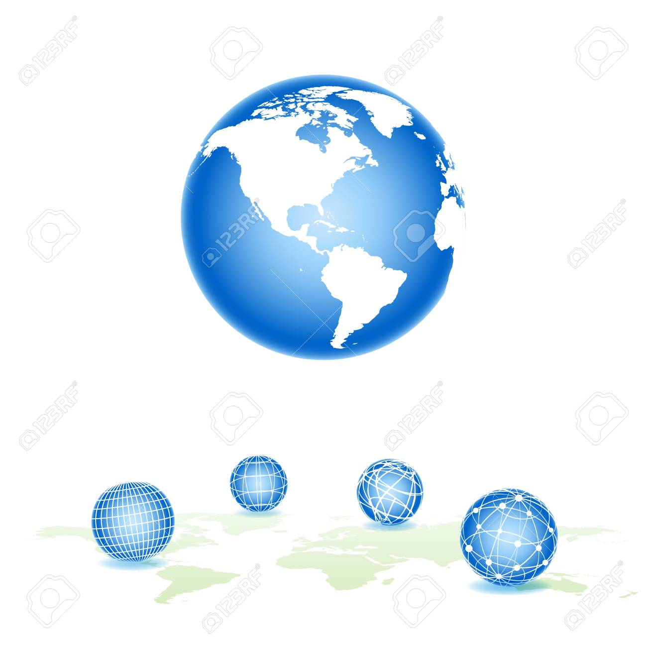 Set sphere Stock Vector - 12481050