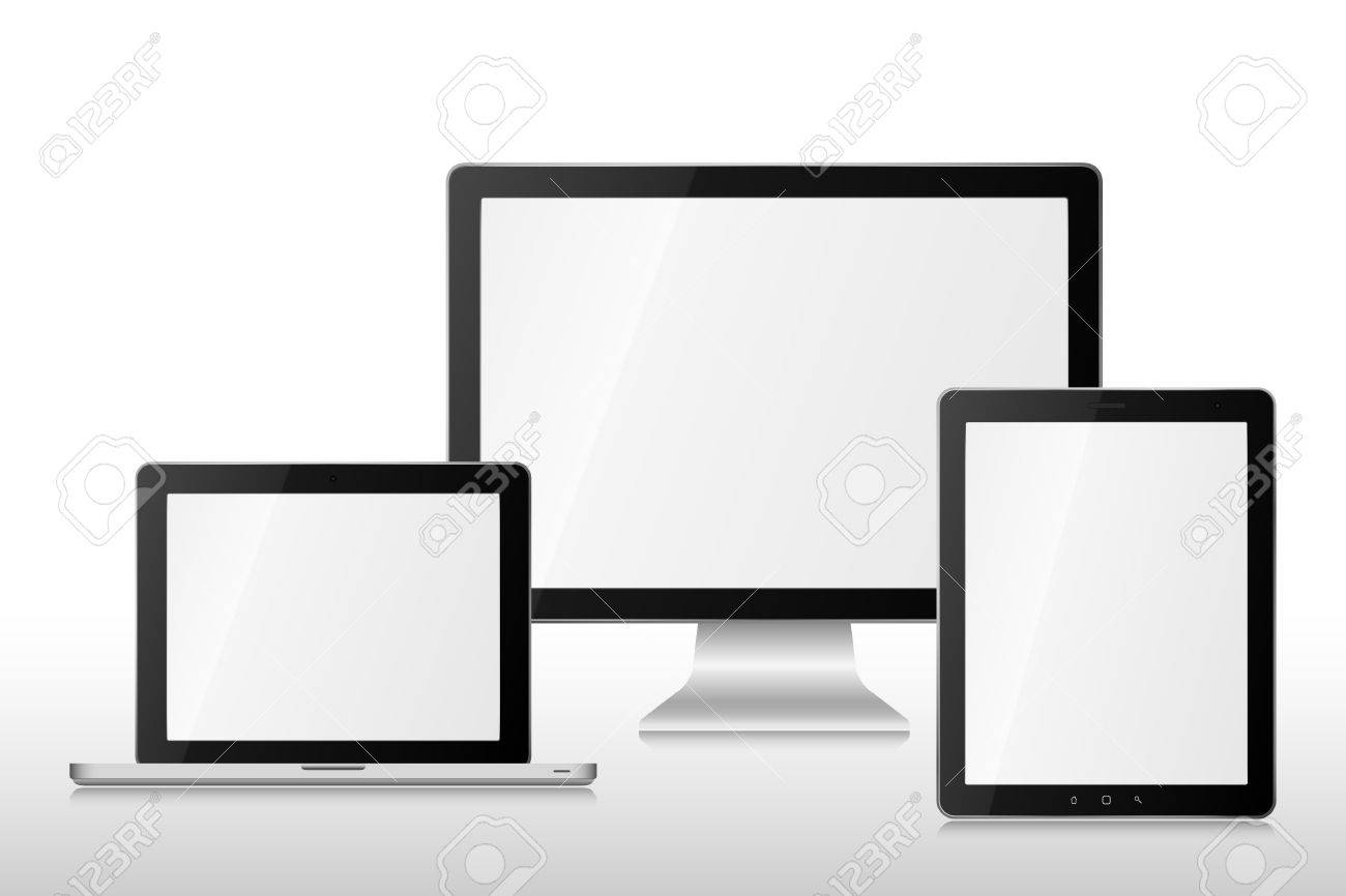 Group  computers Stock Vector - 14258890