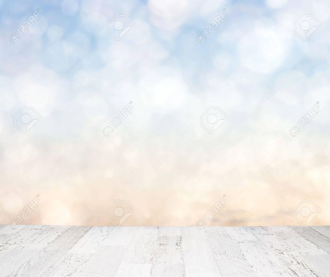 Blue sky behind wooden floor Stock Photo - 14272009