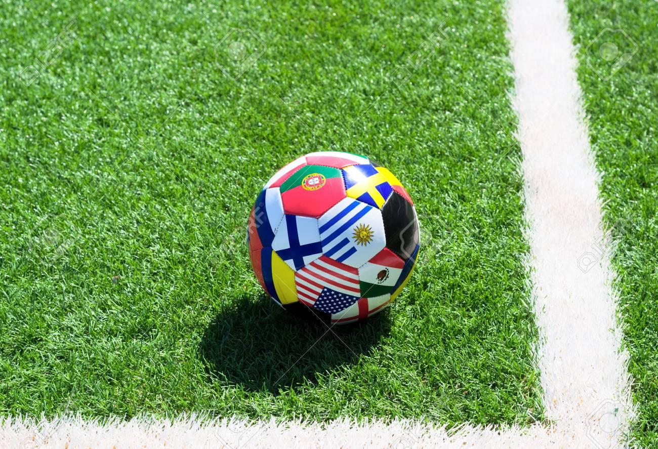 Soccer ball on field Stock Photo - 14580703