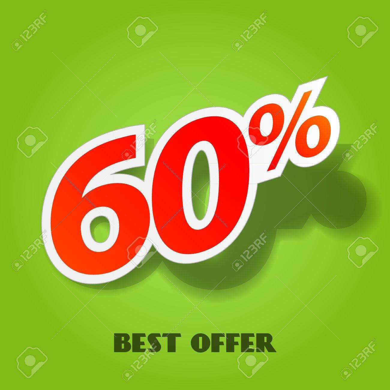 Vector label percent - 15274933